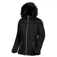 Regatta Women's Whitley Hooded Baffle Jacket - Black