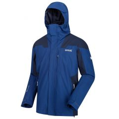 Regatta Men's Wentwood IV Waterproof 3 In 1 Jacket - Prussian Blue Navy