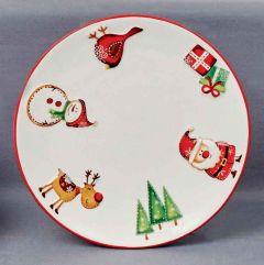 19cm Santa & Friends Plate