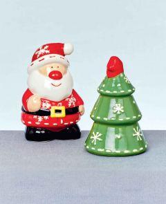 6cm Santa-Tree Salt And Pepper Set